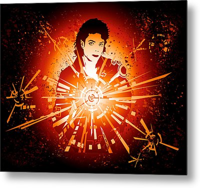 Energy Force Of Michael Jackson Metal Print