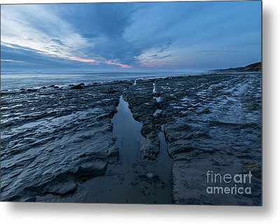 Exposed Rocks Only During Winter Metal Print