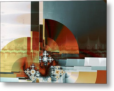 Metal Print featuring the digital art Exposition Internationale Paris by Richard Ortolano