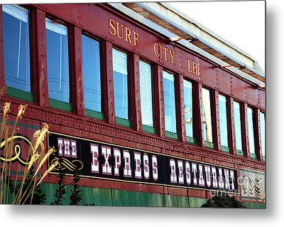 Metal Print featuring the photograph Express Restaurant by John Rizzuto