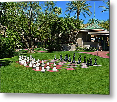 Metal Print featuring the photograph Expressionalism Chess At The Biltmore by Aimee L Maher Photography and Art Visit ALMGallerydotcom