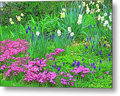 Metal Print featuring the photograph Expressionalism Garden Escape by Aimee L Maher Photography and Art Visit ALMGallerydotcom