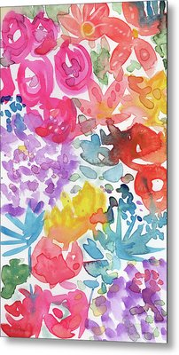 Expressionist Watercolor Garden- Art By Linda Woods Metal Print