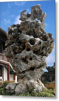Exquisite Jade Rock - Yu Garden - Shanghai Metal Print by Christine Till