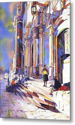 Exterior Of Cathedral In The Colonial Mining Town Of Potosi In The Bolivian Altiplano Potosi Boliv Metal Print by Ryan Fox