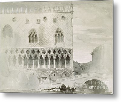 Exterior Of Ducal Palace, Venice, 19th Century Metal Print by John Ruskin