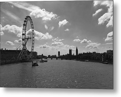 Eye And Parliament Metal Print