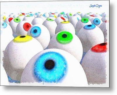Eye Farming And Growing - Pa Metal Print by Leonardo Digenio