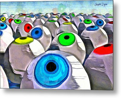 Eye Farming - Da Metal Print