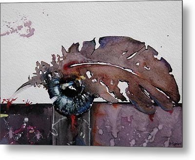 Eye Feather Metal Print