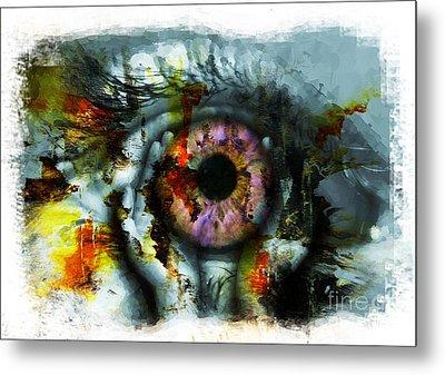 Eye In Hands 001 Metal Print
