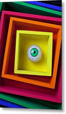 Eye In The Box Metal Print by Garry Gay