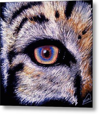 Eye Of A Tiger Metal Print by Alban Dizdari