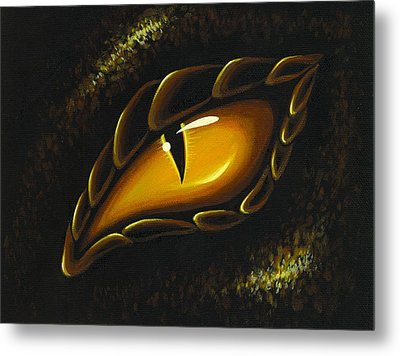 Eye Of Golden Embers Metal Print