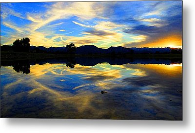 Metal Print featuring the photograph Eye Of The Mountain by Eric Dee