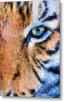 Eye Of The Tiger Metal Print by JC Findley
