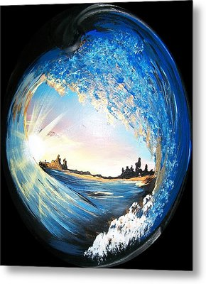 Eye Of The Wave Metal Print