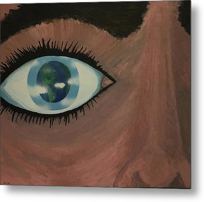 Metal Print featuring the painting Eye Of The World by Thomas Blood