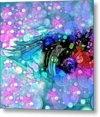 Eye See Metal Print by Saundra Myles