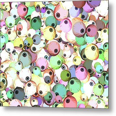 Metal Print featuring the digital art Eyeballs by Methune Hively