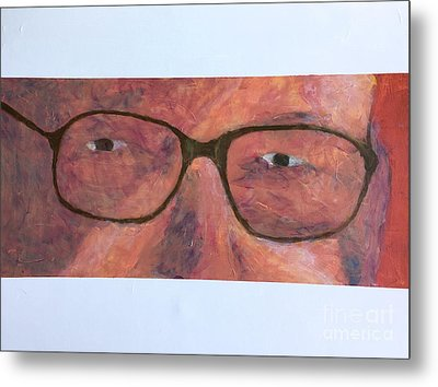Metal Print featuring the painting Eyes by Donald J Ryker III