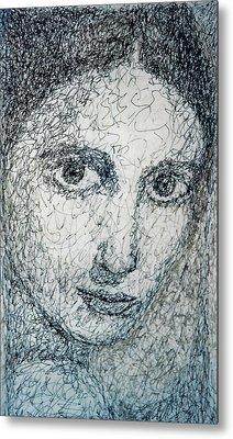 Eyes Metal Print by Maria Valladarez