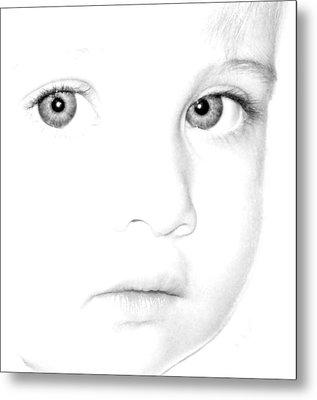 Eyes Of A Child Metal Print by Kathleen Stephens