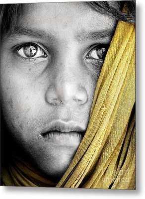 Eyes Of A Child Metal Print by Tim Gainey