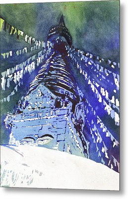 Eyes Of Buddha- Nepal Metal Print by Ryan Fox