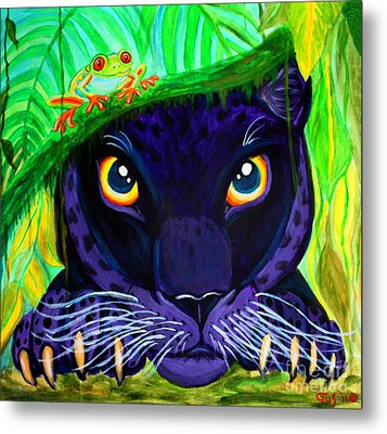 Eyes Of The Rainforest Metal Print by Nick Gustafson