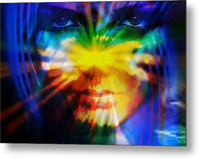 Metal Print featuring the digital art Eyes Of Truth by Shadowlea Is
