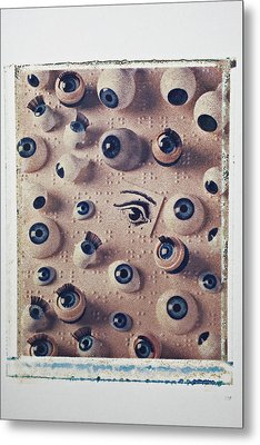 Eyes On Braille Page Metal Print by Garry Gay