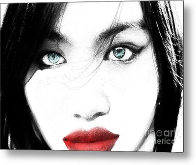 Metal Print featuring the painting Eyes by Tbone Oliver