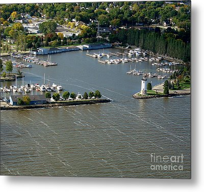 F-003 Fond Du Lac Wisconsin Harbor Metal Print by Bill Lang