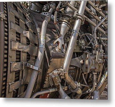 F-1 Rocket Engine Metal Print by Allen Sheffield