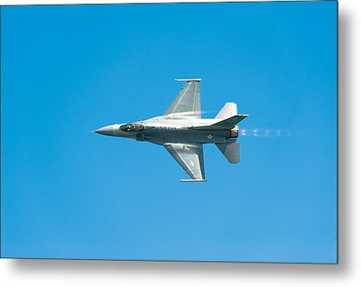 F-16 Full Speed Metal Print by Sebastian Musial