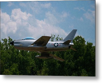 Metal Print featuring the digital art F-86l Sabre by Chris Flees