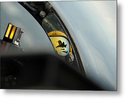 F A-18 Hornets Flying In The Delta Formation Metal Print