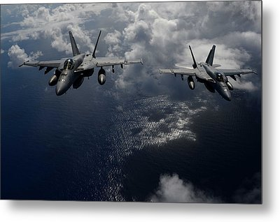 F A-18 Hornets Us Navy Metal Print