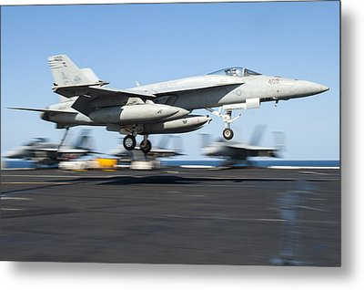 F A-18 Super Hornet Us Navy Metal Print by Celestial Images
