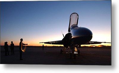 F A-18a Hornet Us Navy Metal Print
