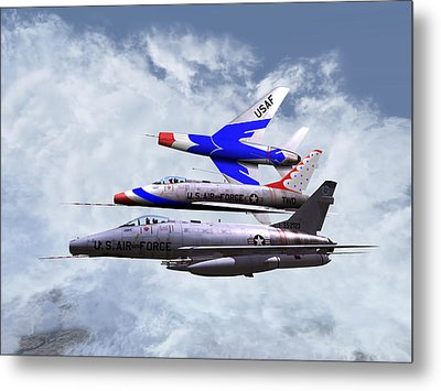 Metal Print featuring the digital art F100 0-41787 Njang 001 by Mike Ray
