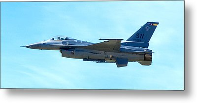 F16 Metal Print by Greg Fortier