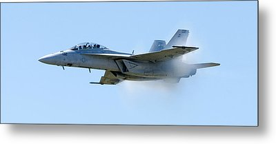 F18 - Barrier Metal Print by Greg Fortier
