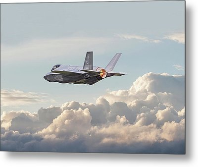 Metal Print featuring the photograph F35 -  Into The Future by Pat Speirs