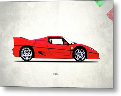 F50 Ferrari Metal Print by Mark Rogan