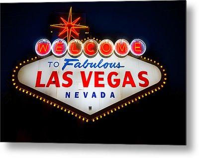 Fabulous Las Vegas Sign Metal Print by Steve Gadomski