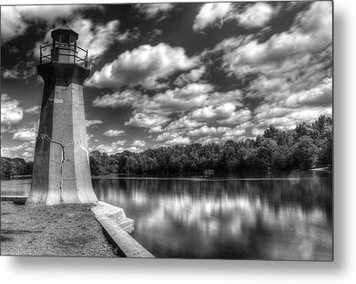 Fabyan Lighthouse On The Fox River Metal Print