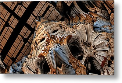 Face Metal Print by Hal Tenny