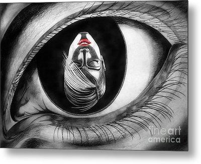 Face In Eye Metal Print by Stanislav Ballok